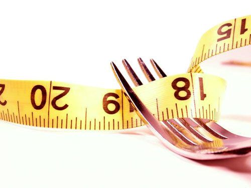Dieta Simples garfo com fita metrica