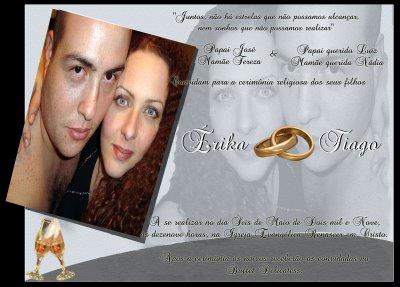 Modelos de Convites Para Casamento   Fotos MODELO Eu e o Mô Convite casamento 2 cópia