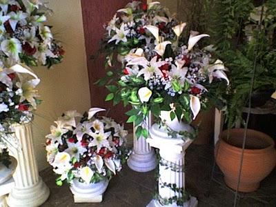 Decoração de Arranjo de Flores Para Casamento SP A0052