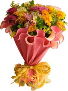 Buque De Flores Para Dia Das Mães buque flores laranjas 225x300