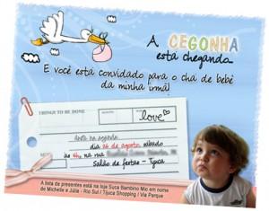 Festa de Aniversario Infantil   Decoração de um Ano. convite 300x235