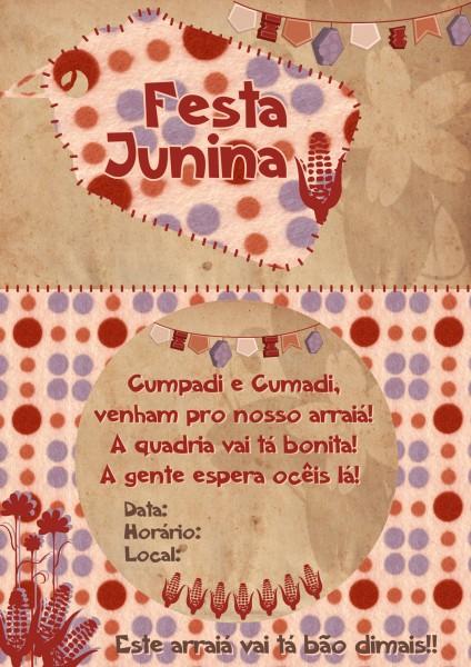 Dicas De Convites Para Festa Junina festa junina convite 424x600