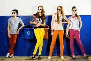 moda Calças Coloridas Feminina  300x200