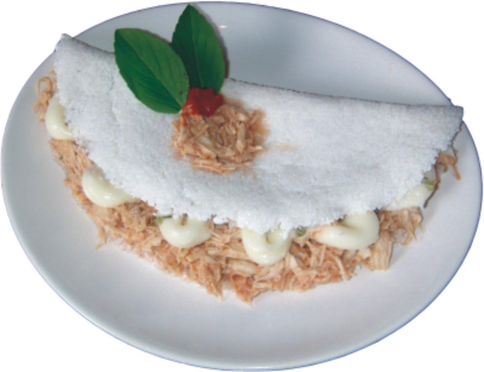 Tapiocas Rechedas tapioca frango