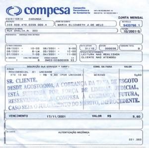 2º Via de Conta Compesa  Pela Internet conta da compesa 300x297