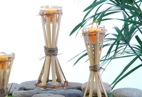 Tochas De Bambu Porta Vela tochas porta velas