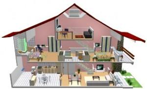 Plantas de Casas Grátis   Planta Baixa e Projeto de Casa Para Download Projetos em 3D 300x182