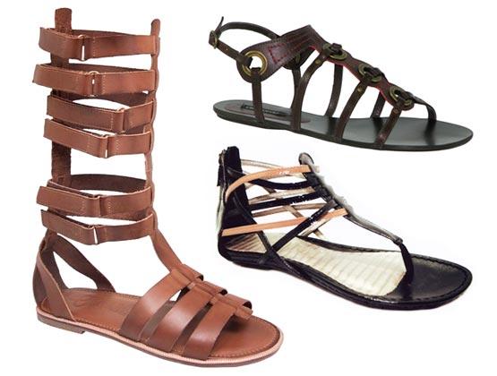 Sandálias Gladiadoras – Modelos 2011 Sandálias Gladiadoras Modelos 2011