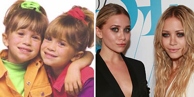 As gêmeas Mary Kate e Ashley Olsen olsen1