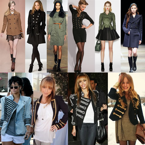 fotos moda militar inverno