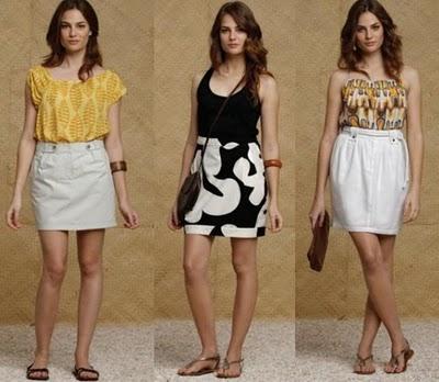 moda saia cintura alta totem