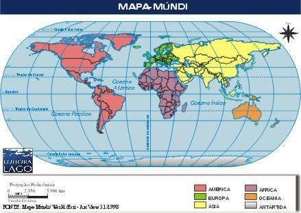 Mapa do Mundi Países mapa mundi
