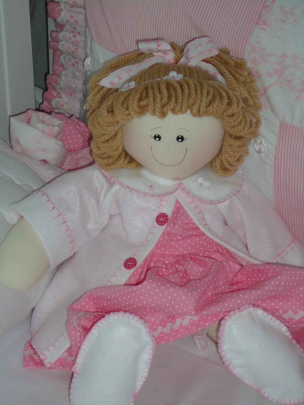 Bonecas de Panos Para Decoração de Quartos de Bebês boneca de pano rosa