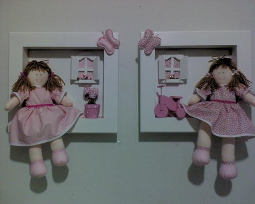 Bonecas de Panos Para Decoração de Quartos de Bebês prateleira