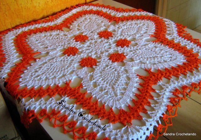 Modelos de Tolhas Feitas de Crochê   Fotos modelo toalha