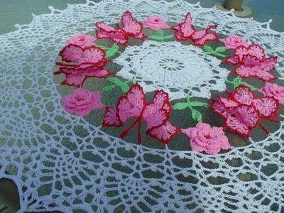 Modelos de Tolhas Feitas de Crochê   Fotos toalha de mesa croche