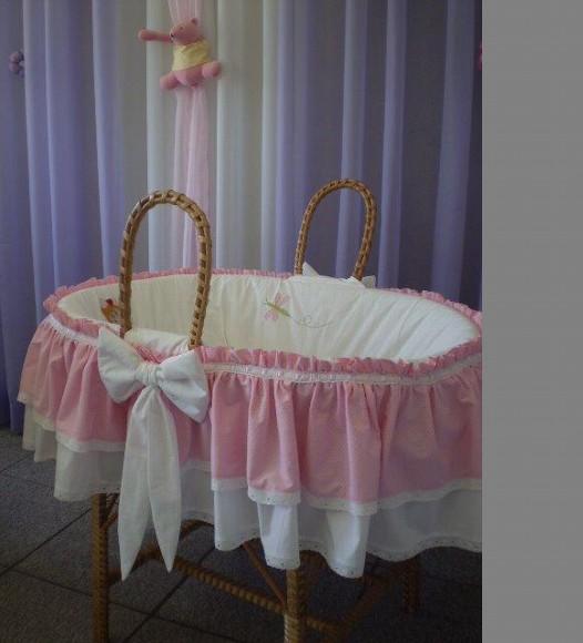 Cestos Vime Para Bebês   Modelos Preços e Fotos  cestos menina