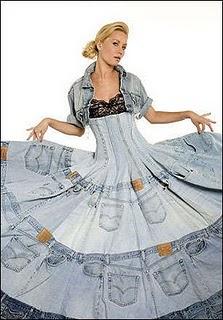 Roupas Feitas com Material Reciclável   Fotos Roupas recicladas jeans