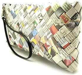 Roupas Feitas com Material Reciclável   Fotos bolsa jornal