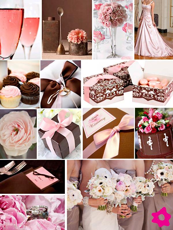 Decoração de Casamento Rosa e Marrom para 2012 Fotos,Tendências