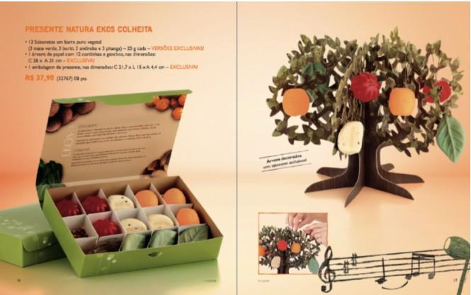 Natura kits Para o Natal 2011  Preços natura kit colheita natal 2011