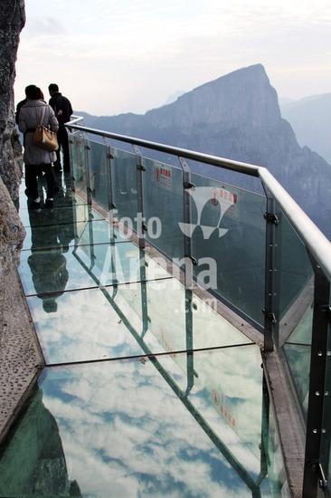 Passarela de Vidro em  Penhasco da China   Fotos Passarela de vidro