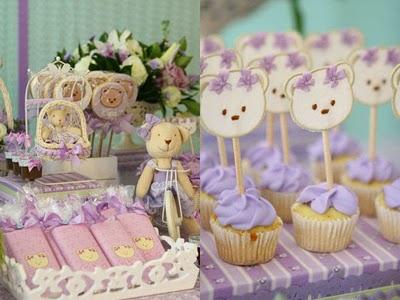 Decoração para Chá de Bebes 2012  Cores,Fotos,Tendências doces decorativos chá de bebe meninas