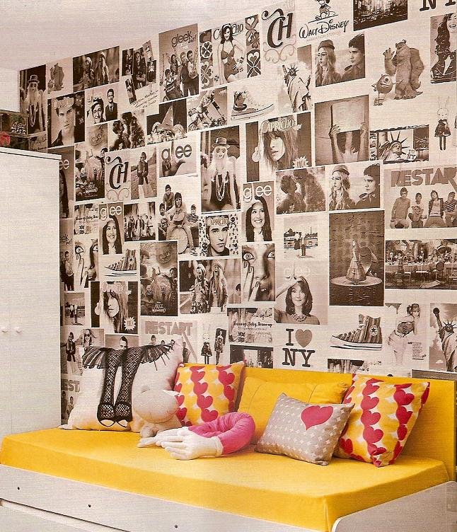 Paredes Decoradas com Jornais   Decoração de Casa Papel parede jornal