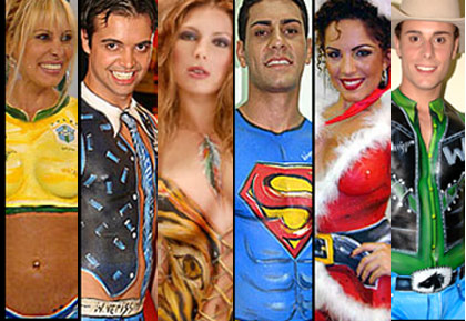 Modelos de Pinturas no Corpo para o Carnaval 2012  Fotos  pintura corporal