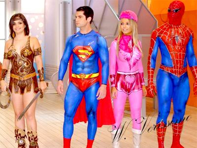 Modelos de Pinturas no Corpo para o Carnaval 2012  Fotos  pinturas herois