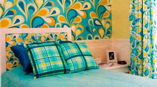 Decoração de Paredes com Tecidos – Dicas,Modelos,Como Decorar decoraçao paredes de quartos com tecido