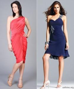 Vestidos Sociais Para Casamento 2012   Modelos, Tendências vestido de festa curto vermelho e azul 250x300