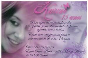 Convite Para Festa de Aniversario de 15 Anos  Modelos e Dicas Convites de Aniversario 300x198