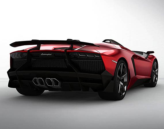 Nova Lamborghini Aventador j 2013 – Modelo, Vídeos, Fotos, Funções traseira Lamborghini Aventador J 13