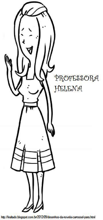 Novela Carrossel SBT 2012 – Desenhos Para Colorir Online  DESENHOS DO CARROSSEL PARA COLORIR PROFESSORA HELENA