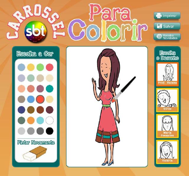 Novela Carrossel SBT 2012 – Desenhos Para Colorir Online  Jogo de Pintar da Novela Carrossel Para Colorir do Carrossel