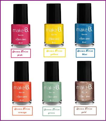 Nova Coleção de Maquiagem da O Boticário para o Verão de 2012 – Make B. colecao make esmalte