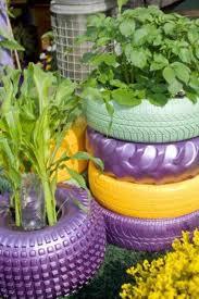 Decoração de Jardim com Pneus –  Dica decoracao pneu