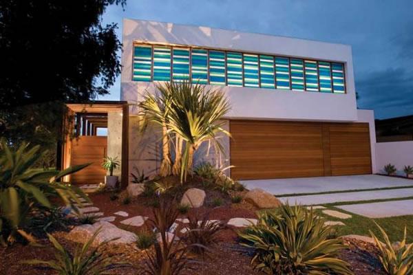 Decoração de Fachada de Casas Moderna fro
