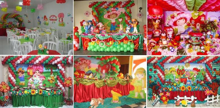 Decoração de Festa Infantil com Personagem Moranguinho   Fotos moranguinho