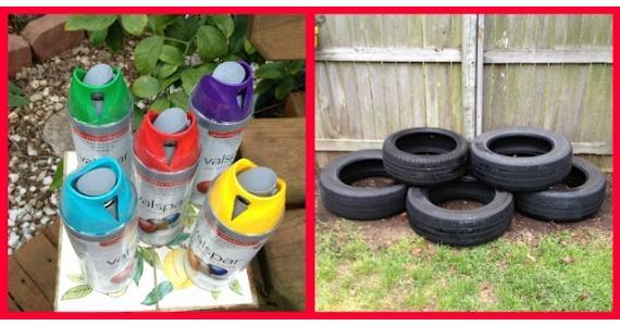 Decoração de Jardim com Pneus –  Dica pneus