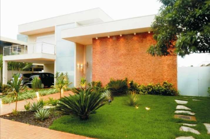 Decoração de Fachada de Casas Moderna primeira