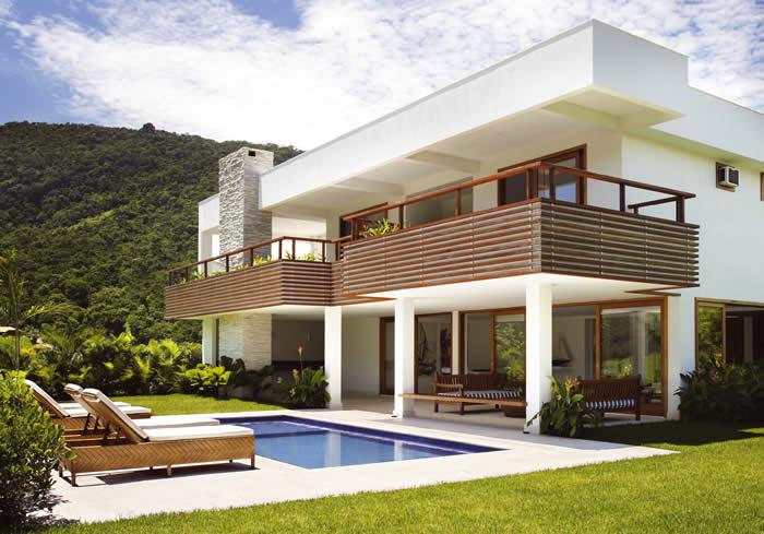 Decoração de Fachada de Casas Moderna quart