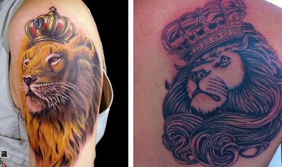 Significado da Tatuagem de Coroa – Informações, Modelos Tattoo Leão com Coroa