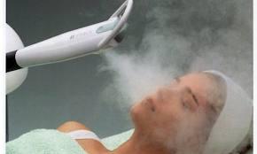 vapor de ozonio no rosto