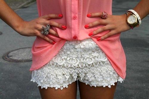 modelos-de-shorts-de-renda-branco