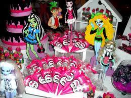 Decoração Festa Aniversário Infantil Monster High 2013 – Fotos e Dicas  painel