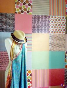parede co patchwork