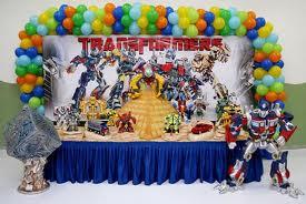 Decoração de Aniversário Tema Transformers – Fotos Modelos e Tendências  transformers