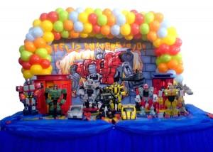 Decoração de Aniversário Tema Transformers – Fotos Modelos e Tendências  transformers2013 300x214